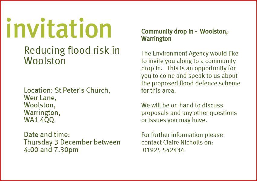 Woolston Flood Risk Drop In.