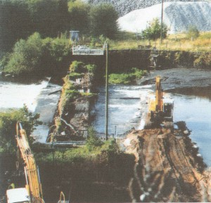 58 Old Weir being removed after